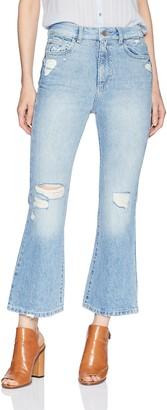 DL1961 Women's Wallace High Rise Crop Flare Jean