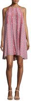 Rebecca Taylor Amanda Sleeveless Floral Shift Dress, Tangerine/Pink