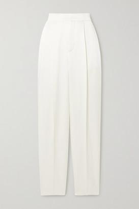 Dundas Hammered-satin Straight-leg Pants - Ivory