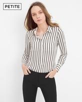 White House Black Market Petite Stripe Soft Shirt