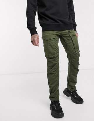 G Star G-Star Rovic Zip 3D straight tapered fit trousers in khaki-Green