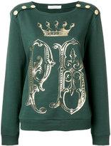 Pierre Balmain logo print sweater - women - Cotton - 38