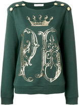 Pierre Balmain logo print sweater - women - Cotton - 40