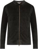 John Varvatos Zip-through silk and cashmere-blend sweater