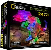 Laser Pegs National Geographic 24-in-1 Dinosaurs Light-Up Construction Set by