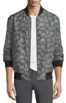 Theory Reversible Linen-Blend Bomber Jacket
