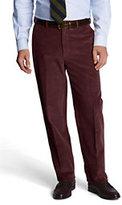 Classic Men's Traditional Fit Plain Front 10-wale Corduroy Trousers-Loden
