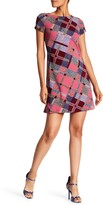Ellen Tracy Short Sleeve Plaid Dress