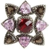 Judith Jack 'Tis The Season Studded Pendant (Pink/Multi) - Jewelry