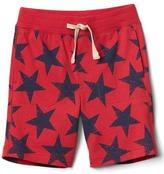 Print pull-on shorts