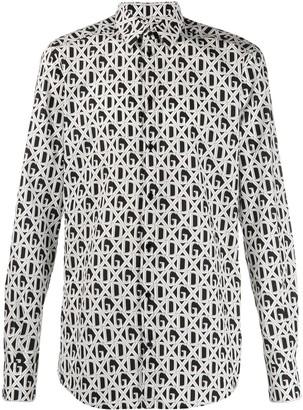Dolce & Gabbana Diamond Check Logo Print Shirt