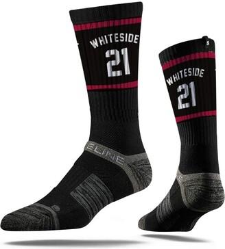 Strideline NBA Miami Heat Hassan Whiteside Jersey Premium Athletic Crew Socks One Size