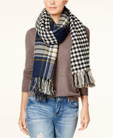 Steve Madden Plaid and Gingham Blanket Wrap & Scarf in One