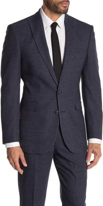 Moss Bros Medium Blue Check Two Button Peak Lapel Regular Fit Suit Separates Jacket