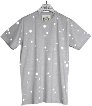 starstyling - Grey Reflective Dots T-Shirt - XS - Grey/Silver