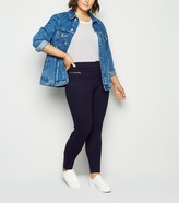 Thumbnail for your product : New Look Curves Button Front Slim Trousers