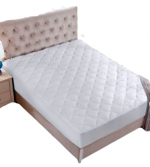 UNIKOME Fourleaf Clover Quilted Down Alternative Mattress Pad, Twin Size