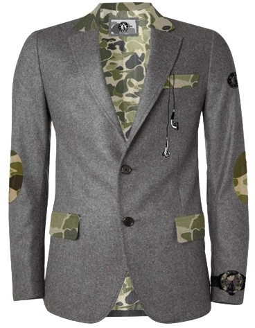 Camo Mini Shatsu - Boy's Hint of Blazer - Grey