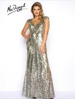 Mac Duggal Fabulouss - 4372 Cap Gown In Platinum