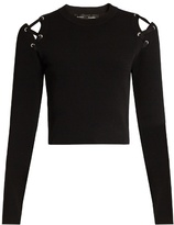 Proenza Schouler Cut-out shoulder crew-neck sweater