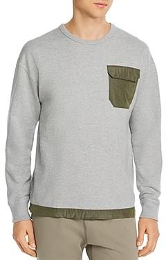 Reigning Champ Mixed-Media Crewneck Sweatshirt