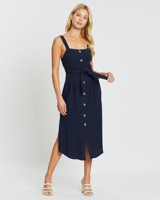 Daybreak Belted Midi Dress