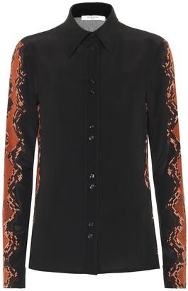 Givenchy Snake-print silk-crepe blouse