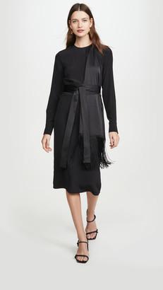 Victoria Victoria Beckham Fringe Scarf Dress