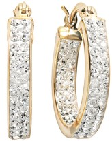 Sterling N Ice Sterling 'N' Ice 14k Gold Over Silver Crystal Hoop Earrings - Made with Swarovski Crystals
