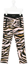 Kenzo tiger stripes leggings - kids - Cotton - 3 yrs
