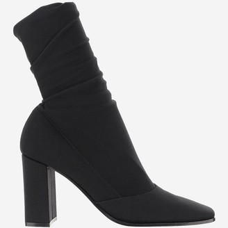Gianvito Rossi Black Stretch Fabric Ankle-Boots