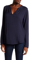 Allen Allen Split Neck Blouse