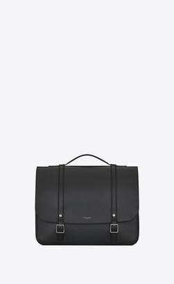 Saint Laurent High School Bag Schoolbag Backpack In Smooth Calfskin Black Onesize