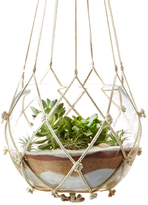 Twos Company Hand-Braided Macrame Plant Hangers (Set of 5)