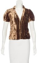 Louis Vuitton Velvet Short Sleeve Jacket