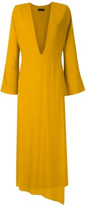 OSKLEN Ouro plunge maxi dress
