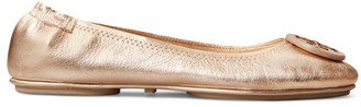 Tory Burch Minnie Travel Metallic Leather Ballet Flats