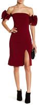 Gracia Off-the-Shoulder Ruffle Sleeve Dress