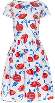 Oscar de la Renta Poppy-print cotton dress