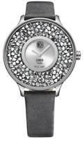 Cover Women's Piedra 42.5mm Grey Leather Band Steel Case Swiss Quartz -Tone Dial Watch CO158.02