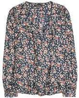 Isabel Marant Ryton floral-printed silk blouse