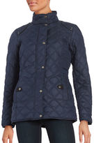 Weatherproof Faux Fur-Lined Quilted Coat