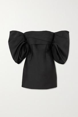 SOLACE London Elina Off-the-shoulder Cady Mini Dress - Black