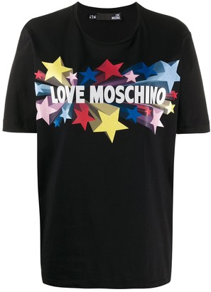 Love Moschino star logo print T-shirt