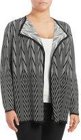 Calvin Klein Plus Jacquard Drape Front Cardigan