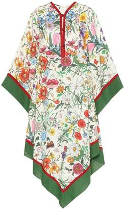 Gucci Floral linen kimono dress