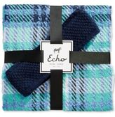 Echo Plaid Scarf and Bouclé Headband Gift Set