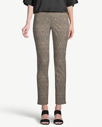 So Slimming Brigitte Geo-Print Slim Ankle Pants