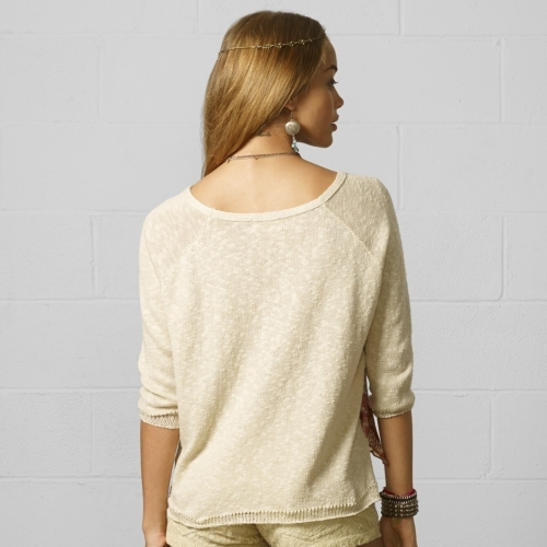 Denim & Supply Ralph Lauren Raglan Crewneck Top