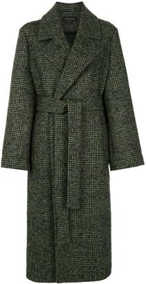 Karen Walker Dark Matter houndstooth-pattern coat